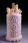 Chinese Carved Ivory Item,