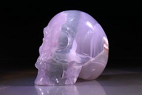 Chinese Hand Carved Fluorite Skull,