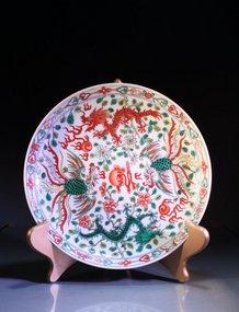 Chinese Enameled Porcelain Bowl.