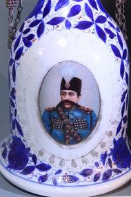 19th C. Persian Porcelain Hookah.