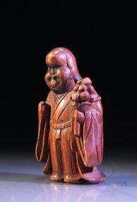 Fine Meiji Japanese Miniature Boxwood Carving,