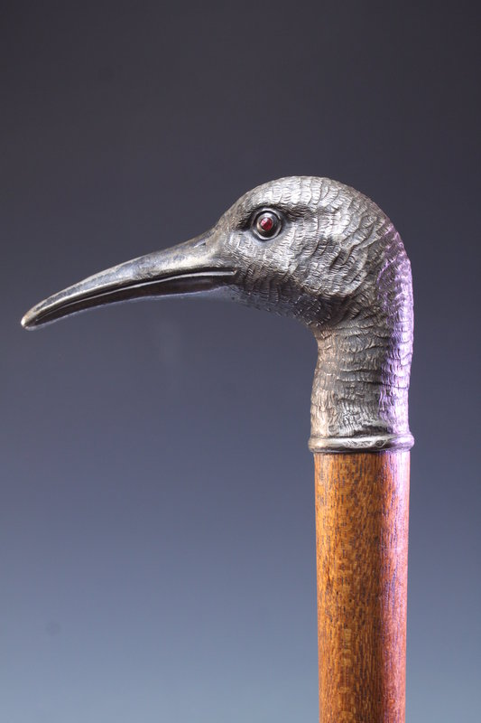 Fine Silver Snipe Dress Cane- Ca. 1900