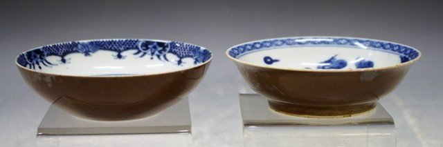 Set of Chinese Antique Blue & White Bowls