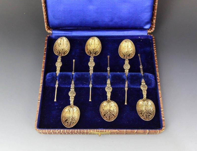 Fine English Set of Silver Tea Spoon,