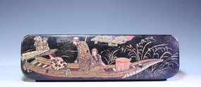 Fine Greek Lacquered Pen Box,