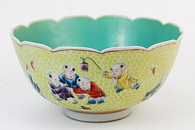 Fine 19th C. Chinese Famille Rose Porcelain Bowl,