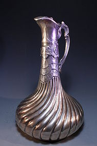 Large 19th C. European Silver Ewer,