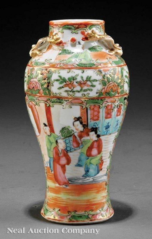 Chinese Export Famille Rose Enameled Porcelain Vase,