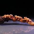 Impressive Japanese Carved Ivory Okimono Figure,
