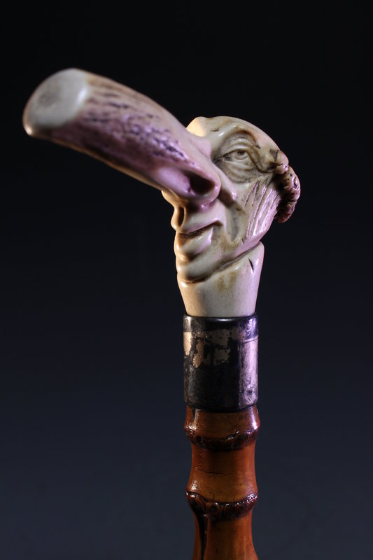 Superb Carved Handle Cane,