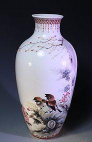 Fine Chinese Enameled Porcelain Vase