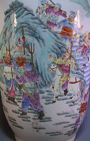19th C. Large Chinese Enameled Porcelain Vase