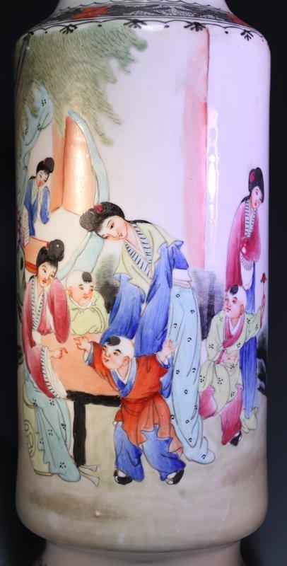 Chinese Enameled Porcelain Vase,