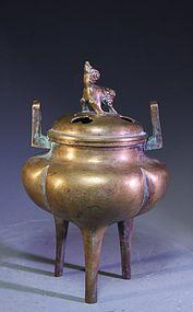 Chinese Bronze Censer,