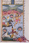 19th C. Persian Miniature Painting/Illuminated Page,