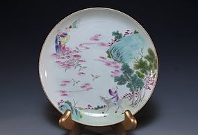 Chinese Enameled Porcelain Plate,