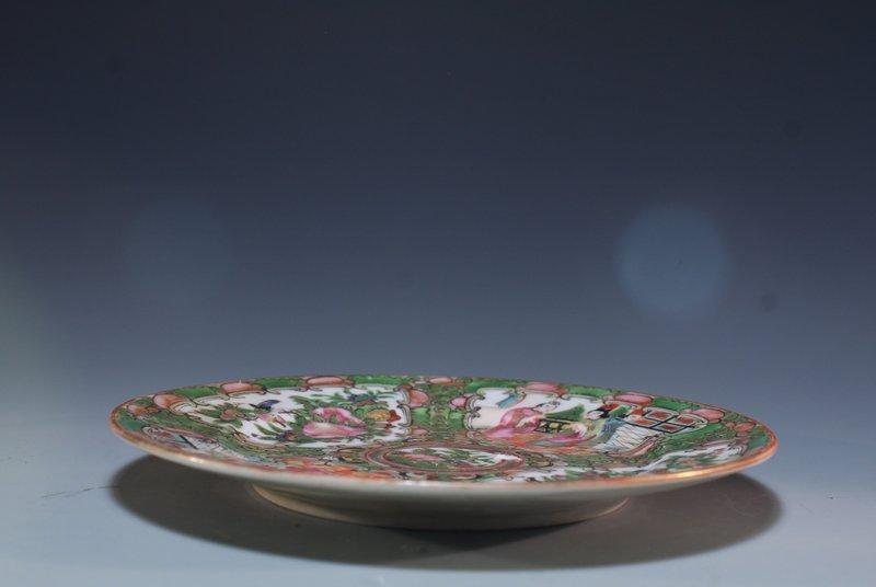 Chinese Rose Medallion Enameled Porcelain Plate