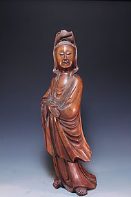 Chinese Wood Carving Figure,