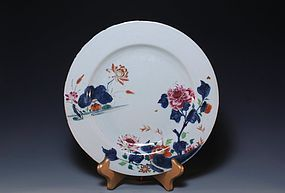 Chinese Qing Export Enameled Porcelain Plate,