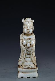 Chinese Carved Jade Figure,