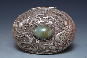 Antique Chinese Silver Box,