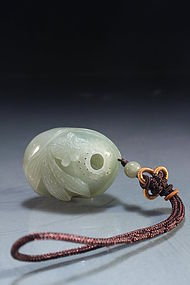Chinese Carved Celadon Jade