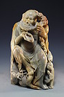 Large Chinese Shou-Shan Stone Carving,