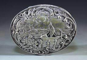 Antique European Silver Box.