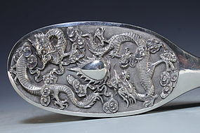 Chinese Export Silver Mirror.