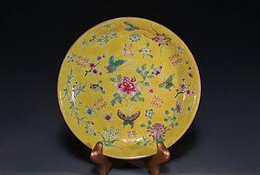 Chinese Enameled Porcelain Plate, Shuangx.