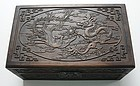 Finely Carved Chinese Camphorwood Box.