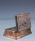 Antique English Silver plated bronze rectangular Box.