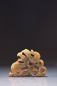 Chinese Mottled Jade Carving.