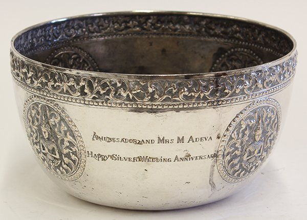 Exquisite Thai Silver Bowl