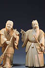 Superb Japanese Carved Ivory Figures.