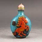 Chinese Beijing / Peking Glass Snuff Bottle.