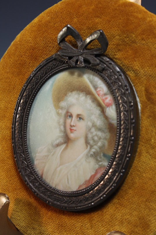 Continental Miniature portrait Painting, 19th C.