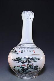 Fine Chinese Enameled Porcelain Vase.