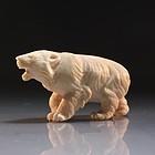 Fine Japanese Carved Ivory Figure, Bear.