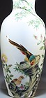 Chinese Famille Rose Enameled Porcelain Vase.