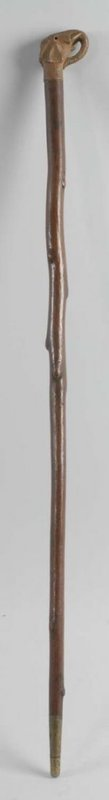 Antique Defensive Cane with Elephant Head Handle.