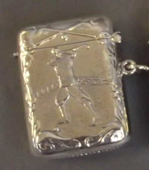 Fine Continental Sterling Silver Vesta Case.