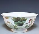Superb Chinese Famille Rose Enameled Porcelain Bowl.