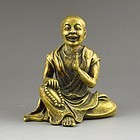 Chinese Bronze Figure; Buddhist Monk.
