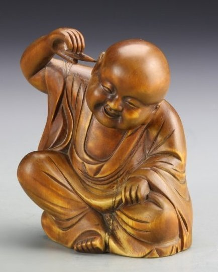 Superb Antique Chinese Boxwood Luohan.