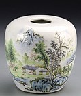Superb Antique Chinese Famille Rose Porcelain Jar.