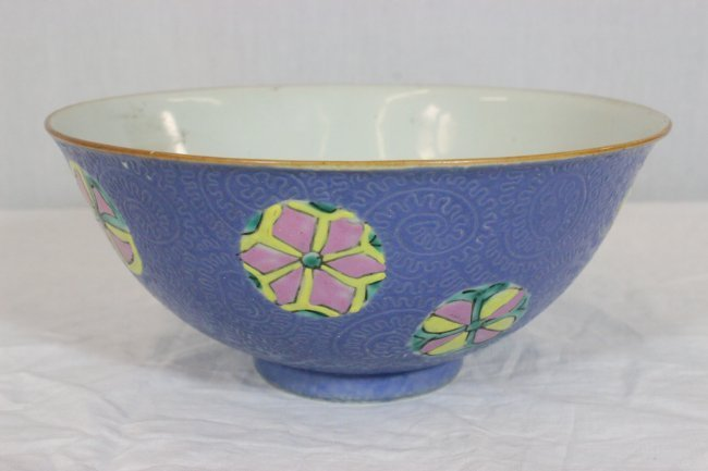 19th C. Chinese Famille Rose Enameled Porcelain Bowl.