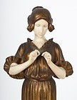 Superb Etienne Watrin. Classical Maiden Bronze.