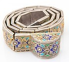 Superb Russian 84 Zolotnik Silver & Enamel Belt.