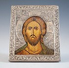 Russian/Greek Silver Portrait Icon.